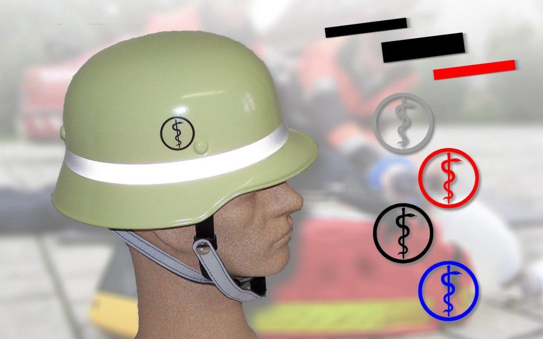 Helm-Kennzeichnung für Sanitäter, First Responder und Führungskräfte in Bayern